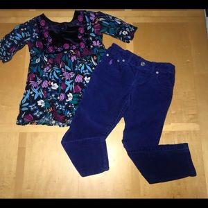👧🏼Polo Ralph Lauren Bright Blue Corduroy Pants